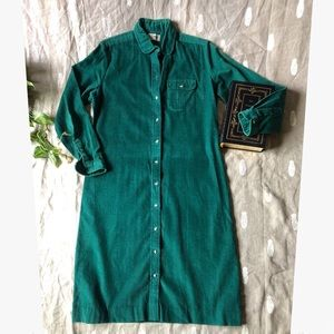 L.L. Bean • Corduroy Button Down Autumn Dress